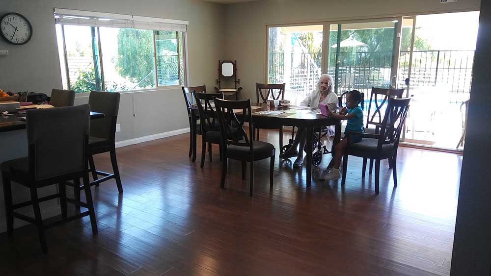 Dining Area at Hills Lane House - Noble Living Elder Care Home in San Diego, CA